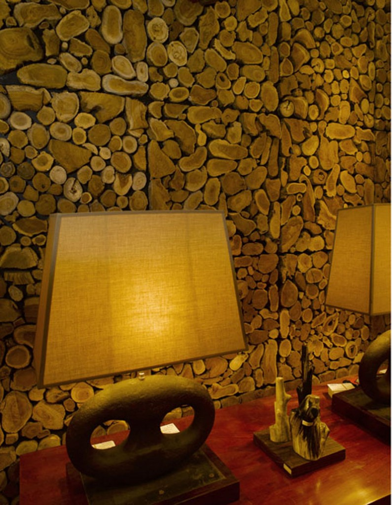 Дизайн стен из дерева